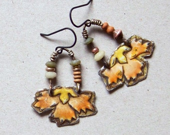 Recycled  tin earrings   *835