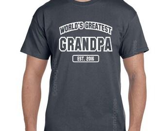 Personalized Grandparent Gifts, Grandpa Shirt, Grandpa Gifts, Christmas Gifts for Grandpa, Great Grandparents, Great Grandpa Est. (ANY YEAR)