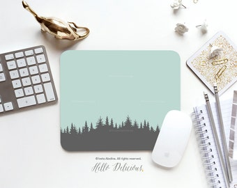 Mouse Pad Pale Mint Forest Mousepad Mint Trees Mouse Mat Polka Mouse Pad Office Mousemat Rectangular Mousemat Forest Mousepad Round 13.