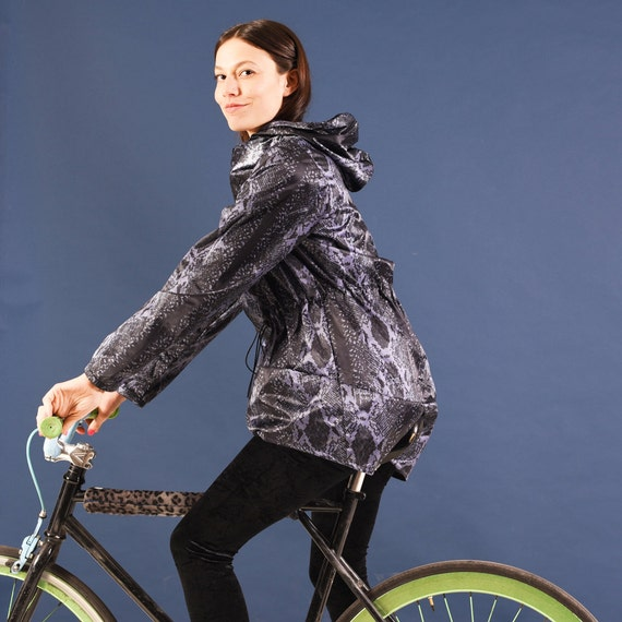 Items similar to Bicycle Rain Jacket, Nylon Raincoat ...