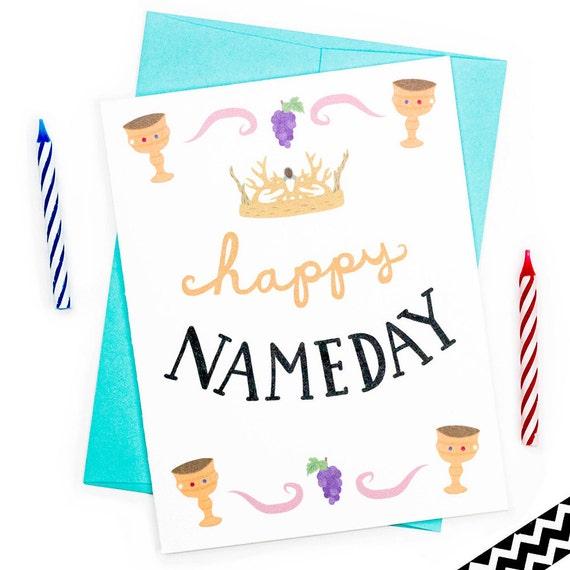 funny birthday card happy name day birthday card