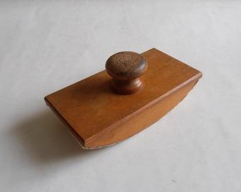 vintage wooden rocker ink blotter