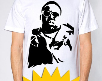 biggie smalls notorious big t-shirt  -- 100% cotton
