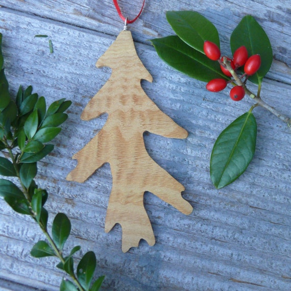 Autumn wedding decorations, Fall leaves, Natural wood leaf Ornament, Oak leaf ornament, Rustic Holiday decor, Nature Christmas Ornaments