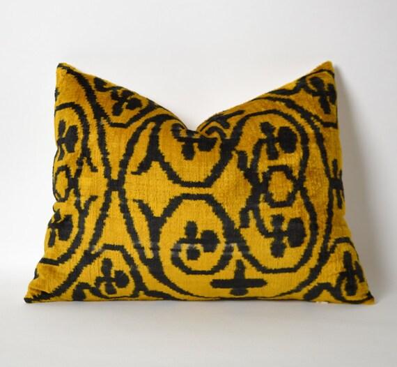 velvet silk ikat pillow cover velvet pillow soft decorative