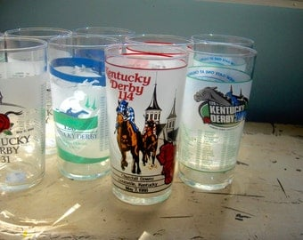 Kentucky Derby Glass(es) 1988 and newer 6 different available