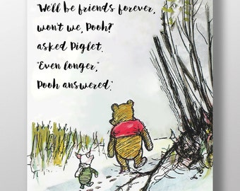 Winnie The Pooh Quotes About Friendship Impressive Winnie The Pooh Quotes Pooh Prints What Day Is It Asked