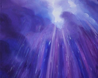 Purple Rain Original Painting