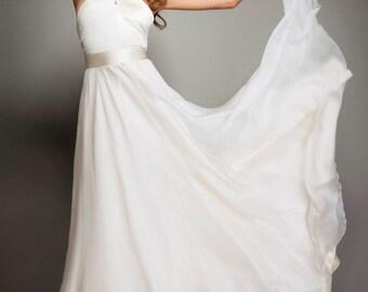 Gia luxurious pure silk gown boho wedding dress disco glam wedding