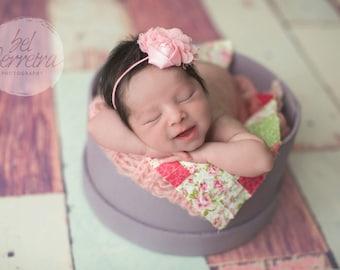 Flower Headband, Baby Girl Headband, Pink Headband, Pink Flower, Baby Girl Headband, Newborn Headband, Photo Prop, Photography Prop