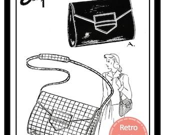 1940s Wartime Handbag Sewing Pattern  - Paper sewing pattern
