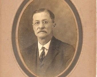 Antique Photo of Mustached Gentleman