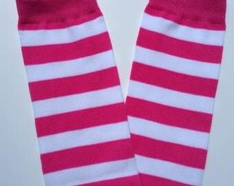 Football legwarmers, baby girl legwarmers, pink striped leg warmers, infant legwarmers, newborn leg warmers, baby legwarmers,  baby legs