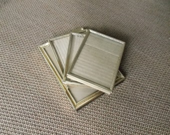 VINTAGE: Mixed Lot Brass Frames Four Frames Different Sizes