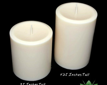 All Natural Soy Pillar Candles, Scented or Unscented Vegan Candles
