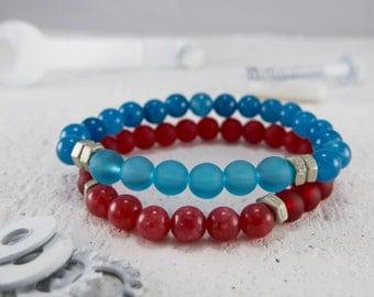 Men Bracelet Set - Men Beaded Bracelet - Men Vegan Bracelet - Men Jewelry - Men Gift - Guys Bracelet - Guys Gift - Boyfriend Gift - Husband