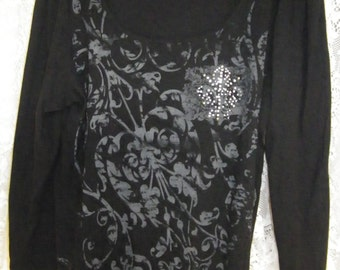 Plus size studded dress blouse 1X or 2X