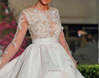 Classy 2016 prom dress, Prom dress Long, White evening gown, High Fashion Dress, Ribbon dress, Couture dress, Red Carpet dress,