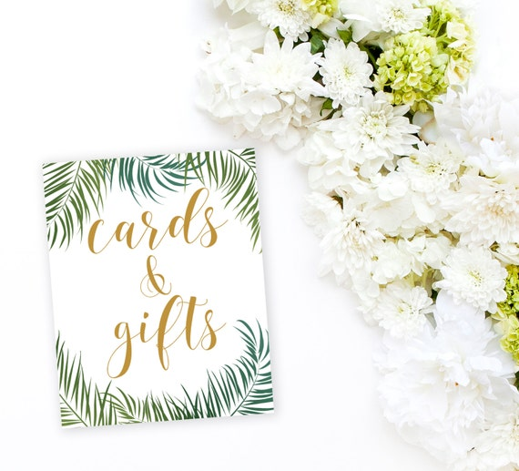 Cards & Gifts Tropical Printable