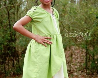 Tiana Dress - Princess and the Frog - Princess Inspired Dress- Tiana Costume - Frog Princess - Dsiney Dress - Disney Costume - Tiana Outfit