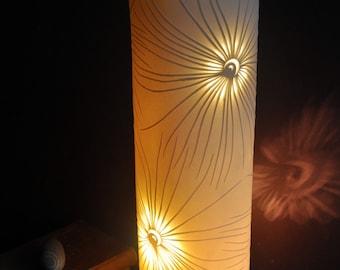 Pierced Fronds Porcelain Lamp