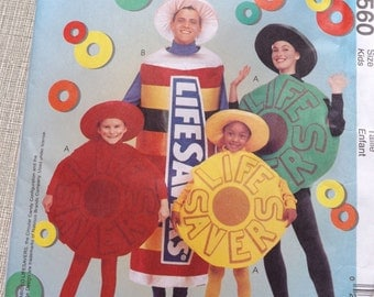 Kids Life Savers Candy Costumes in Size 2 to 8 All 21 Uncut/FF 90s McCall's Sewing Pattern 9560