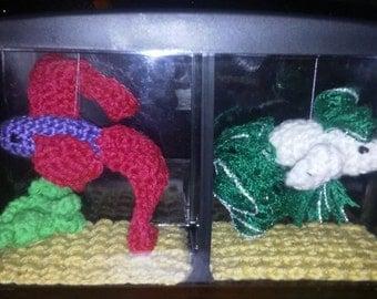 how to crochet a betta fish from plarn