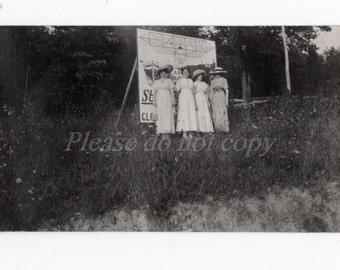 Vintage Snapshot Photo ~ Roadside Americana ~  billboard sign