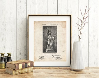 Statue Of Liberty Poster, Statue Of Liberty Patent, Statue Of Liberty Print, Statue Of Liberty Art, Statue Of Liberty Decor PP0474