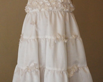 White Flower and Lace Dress