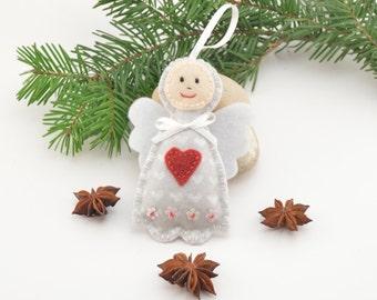 Felt Angel, Christmas decoration, Christmas tree decoration, handmade decoration, Felt decoration, Felt Christmas ornament, Christmas accent