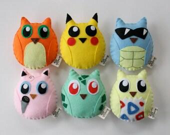 PokeOwls - Pokemon Characters - Choose One