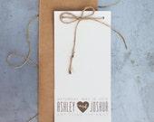Booklet style modern wedding invitation, printable wedding invitation, rustic wedding invitation