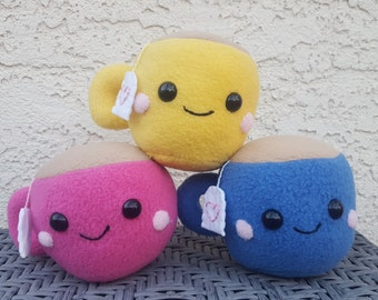 Teacup Plush - Cute Kawaii Stuffed Tea Cup - Made to Order