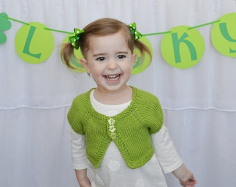 Ready to ship!  St Patricks day bows, set of St Patricks bows, St Patricks day pigtail bows, St Patricks Day baby bows