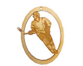 Ice Hockey Ornament - Ice Hockey Player Gift - Ice Hockey Ornaments - Ice Hockey Gifts - Ice Hockey Team Gifts - Personalized Free