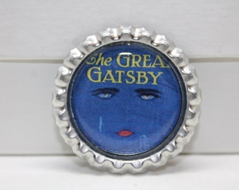 The Great Gatsby Bottle Cap Pin/Magnet