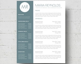 resume template  amp  cover letter template the sara by phdpressresume template  amp  cover letter template w reference page   maria reynolds resume design  instant download microsoft word doc