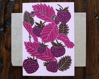 Strawberries Woodland Greeting Card