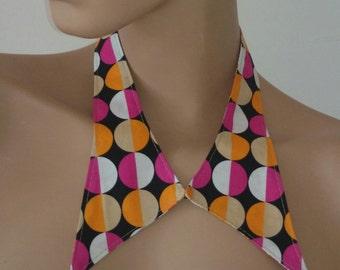 collar retro rosa