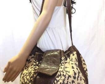 Brio,large leather purse, Bag, Large Brio Bag, Canvas, Leather, Cinch Bag, Purse