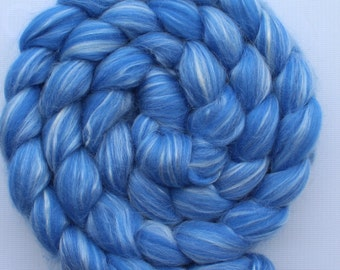 2 oz braid of Louet  Light Blue, 80/20 Merino Silk blended roving