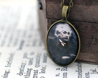 Einstein Necklace, Einstein Jewelry, Science Jewelry, Science Necklace, Einstein, Albert Einstein, Science Pendant, E=mc2, Geeky Jewelry