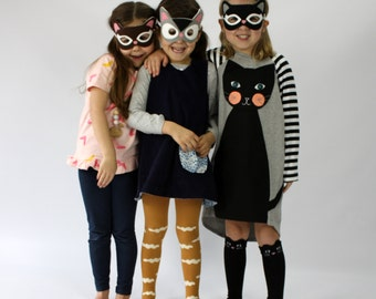 Kitty Cat -- Felt Cat Mask -- Kids Costume -- Handmade