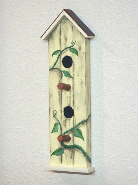 Bird House Key Holder For Wall Peg Board Key Hook Wall Decor