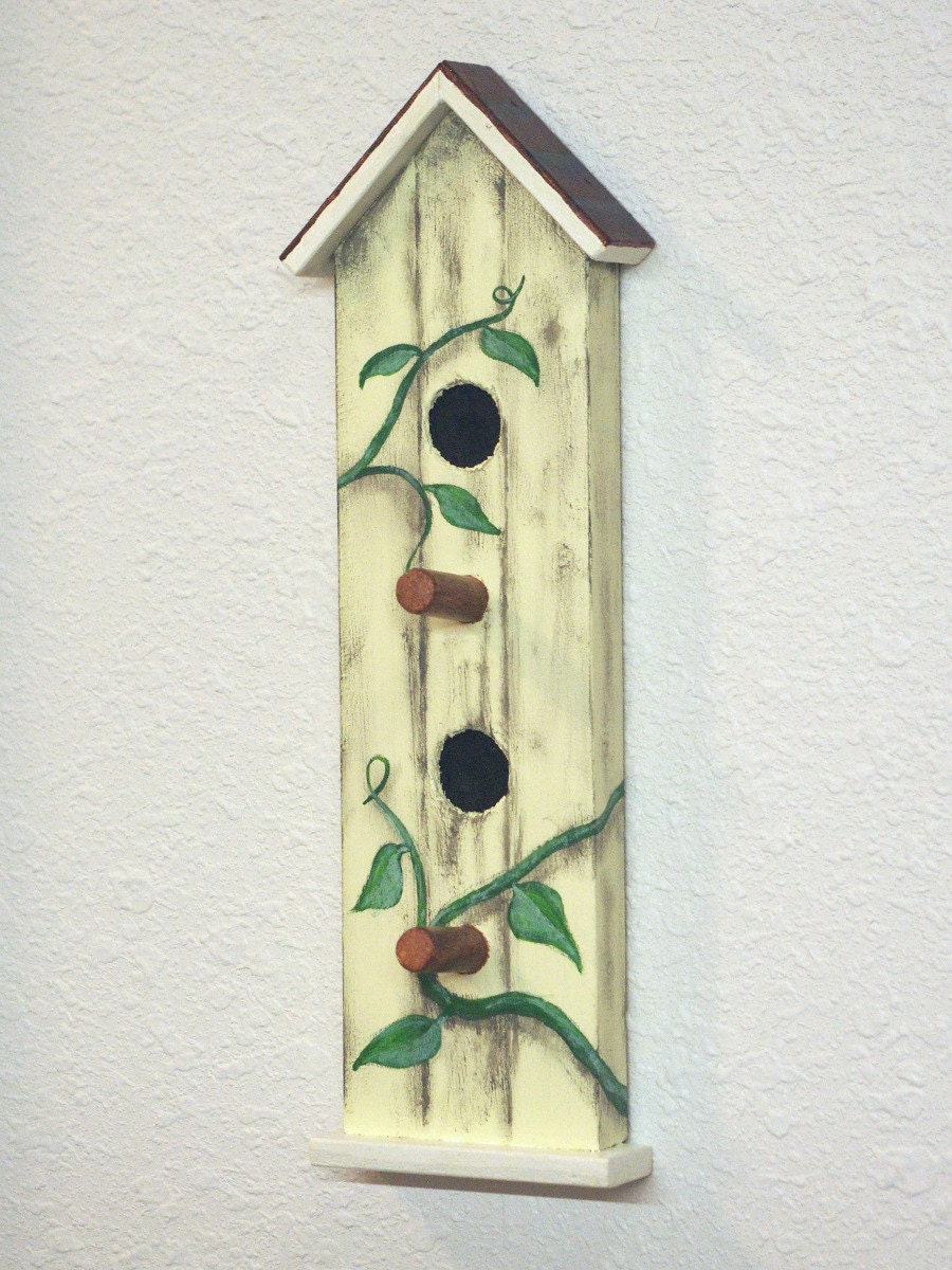 Bird House Key Holder For Wall Peg Board Key Hook Wall Decor