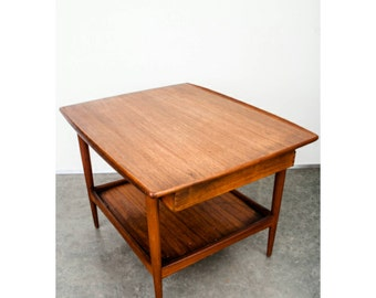 Sold!***** Mid Century Danish Modern Teak Side Table by Moreddi Drawer Solid Nightstand MCM Storage Vintage FREE SHIPPING