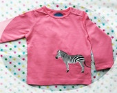 Zebra! Personalized baby t-shirt with a zebra (and the name of the baby)