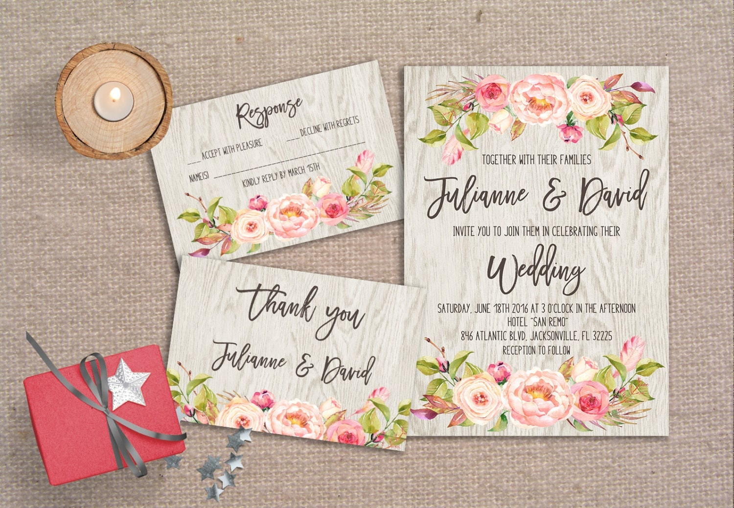 Bohemain Wedding Invitation