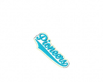 Pioneers  - Team Headband Slip On - DIGITAL EMBROIDERY DESIGN
